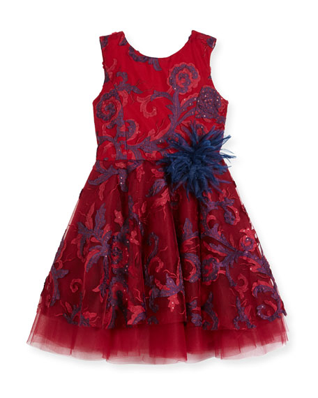 Zoe Ava Masquerade Ball Swirl Dress, Size 7-14