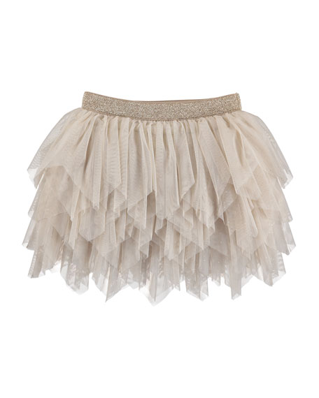 Tulle Tiered Skirt, Size 3-7