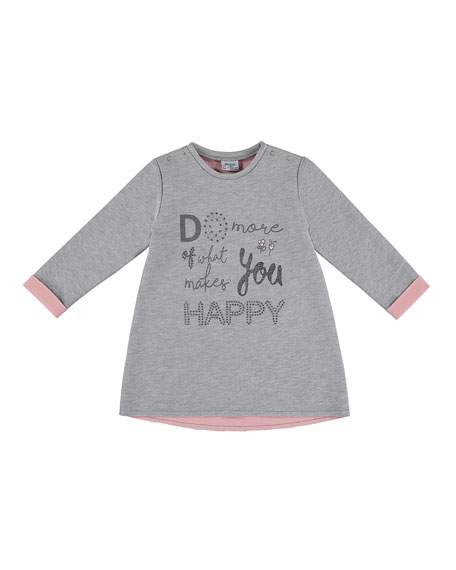 Do More of What Makes You Happy Dress, Size 3-7
