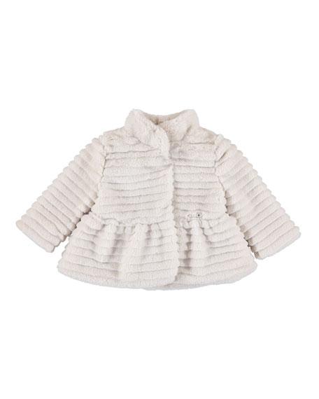 Mayoral Faux-Fur Coat, Size 6-36 Months