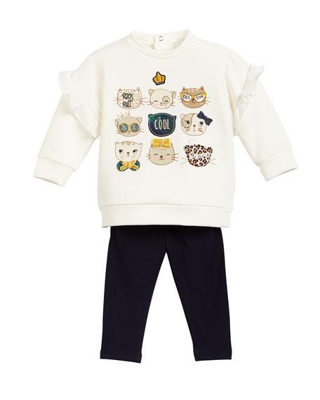 Mayoral Knit Jean Leggings, Size 6-36 Months