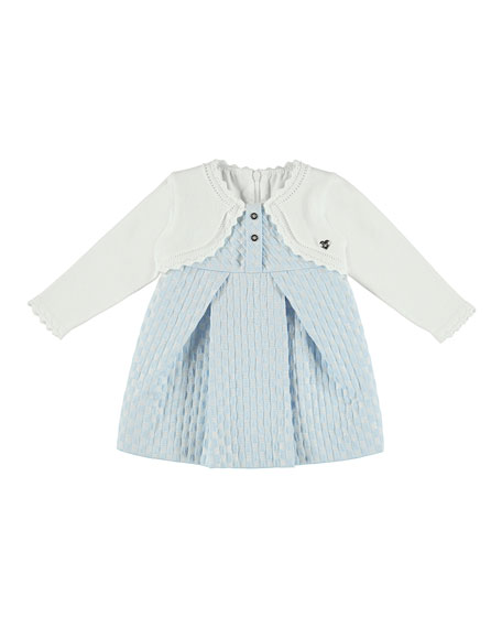 Knit Dress w/ Attached Cardigan, Size 6-36 Months