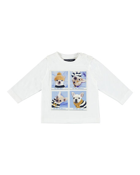 "Long-Sleeve ""My First"" Puppy Graphic T-Shirt, Size 6-36 Months"