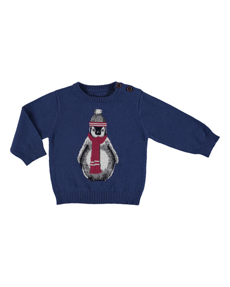 MAYORAL Long-Sleeve Penguin Sweater, Size 6-36 Months
