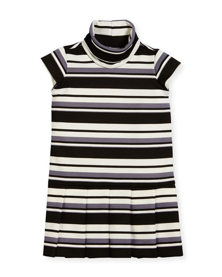 Striped Knit Dress, Size 7-14