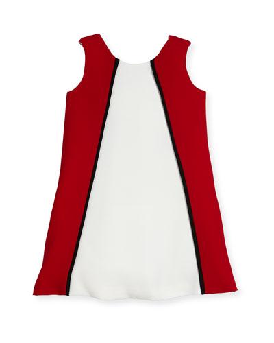 Colorblock A-Line Dress, Size 2-6