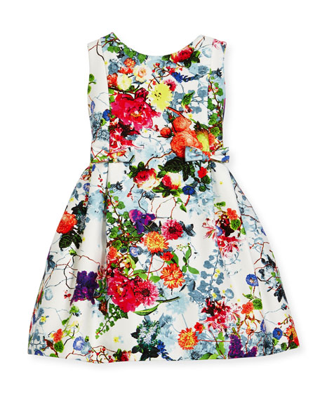 Helena Sleeveless Pleated Floral Dress, Size 7-14 and