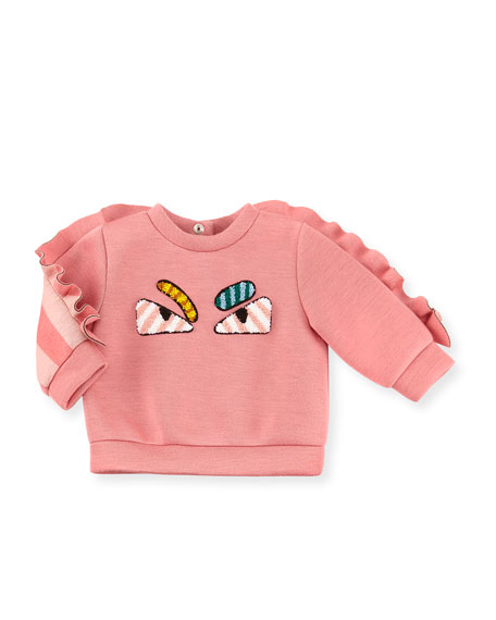 Fendi Infant Girls' Monster Eyes Sweatshirt, Size 12-24