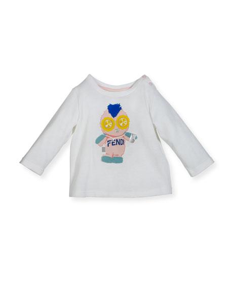 Infant Girls' Long-Sleeve Fendirumi Graphic T-Shirt, Size 12-24