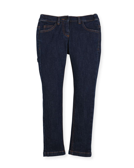 Fendi Girls' Denim Pants w/ Fendirumi Back Pocket,