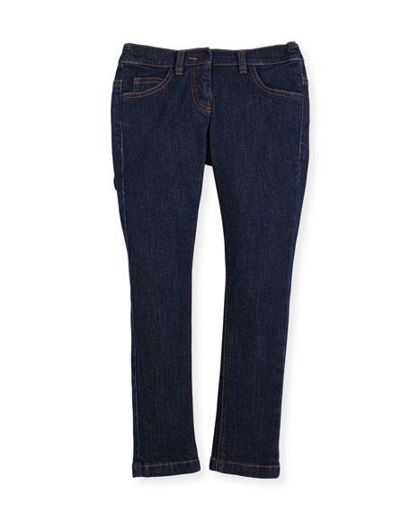 Girls' Denim Pants w/ Fendirumi Back Pocket, Size 10-14