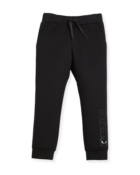 Fendi Boys' Neoprene Jogging Pants, Size 6-8