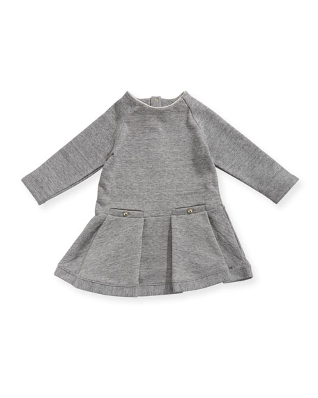 Soft Chic Long-Sleeve Dress, Size 2-3