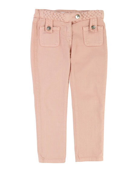 Chloe Denim Braided Trousers, Size 6-10