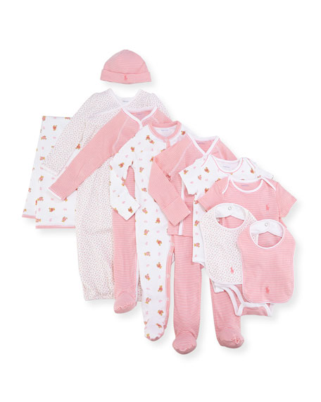 11-Piece Boxed Layette Set, Pink, Size Newborn-9 Months