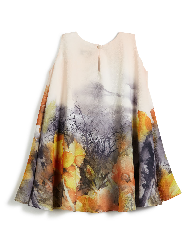 6f117e5ebfaf5 Helena Border Floral Swing Dress