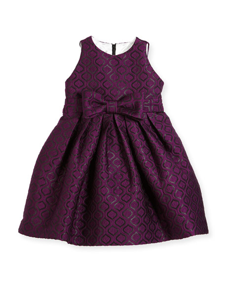 Geo Jacquard Dress, Size 7-14