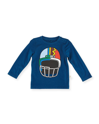 Georgie Long-Sleeve Helmet Graphic Tee, Size 12-36 Months