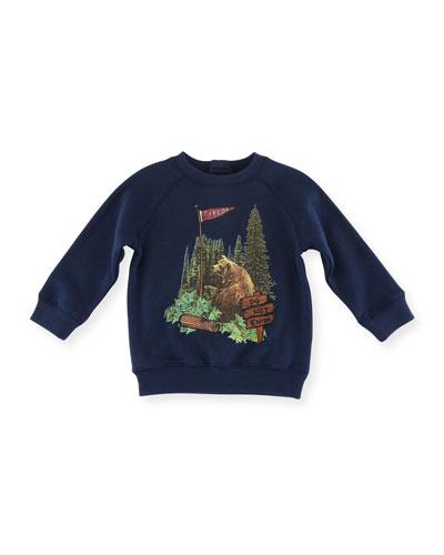 Billy Bear Graphic Sweatshirt, Size 12-36 Months