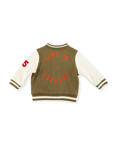 Parsley Patched Varsity Jacket, Size 12-36 Months