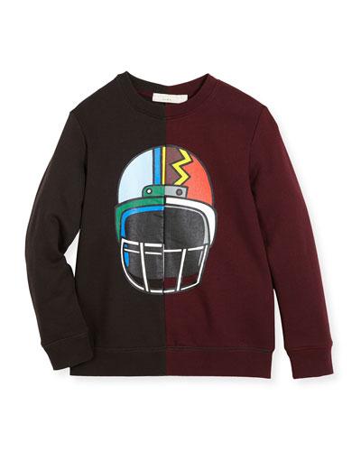 Biz Two-Tone Helmet Sweatshirt, Size 4-6