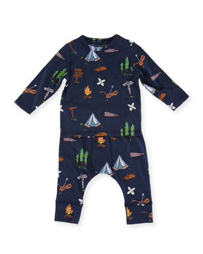 Georgie + Macy Campsite Tee & Matching Leggings Set, Size 12-36 Months