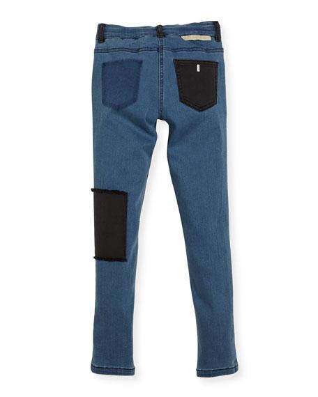 Nina Patched Denim Skinny Jeans, Size 4-14