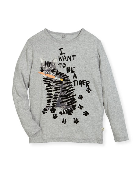 Bella Cat Graphic Tee, Size 4-14