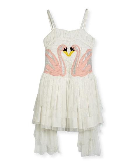 Stella McCartney Bonny Winged Swan Tulle Dress, Size