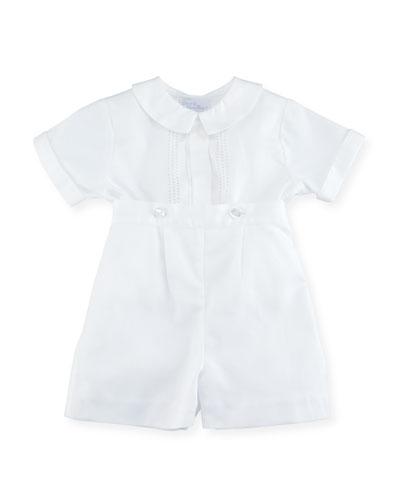 Parker Two-Piece Short-Sleeve Christening Suit Set, Size 0-24 Months