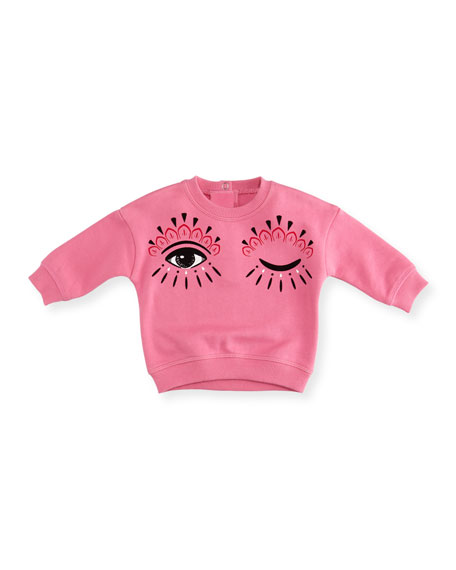 Kenzo Eyes Graphic Sweatshirt, Size 12-18 Months