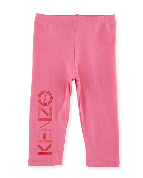 Kenzo Bubble Logo Stretch Leggings, Medium Pink, Size