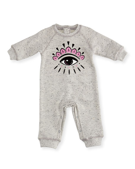 Kenzo Eye-Graphic Coverall, Size 3-18 Months
