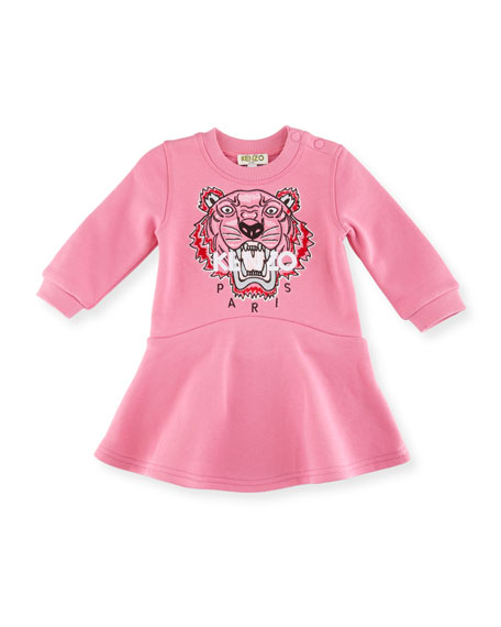 Kenzo Bubble Tiger Sweater Dress, Medium Pink, Size