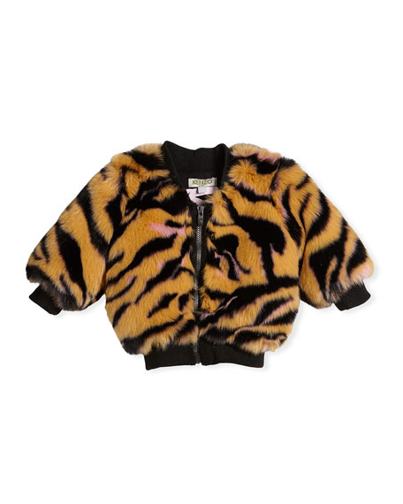 Kenzo Faux-Fur Tiger Jacket, Size 2-3 and Matching
