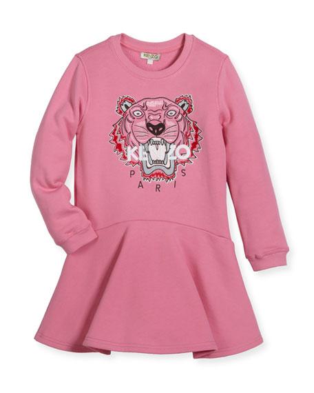 Kenzo Bubble Tiger Sweater Dress, Size 8-12