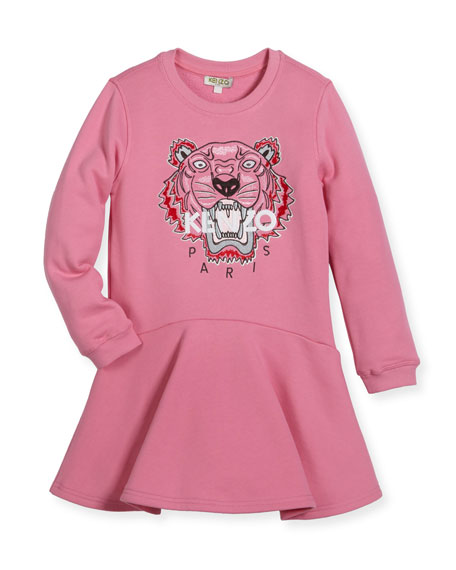 Kenzo Bubble Tiger Sweater Dress, Size 8-12 and