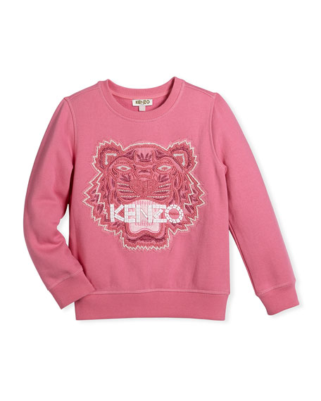 Kenzo Bubble Beads Tiger Sweatshirt, Size 8-12
