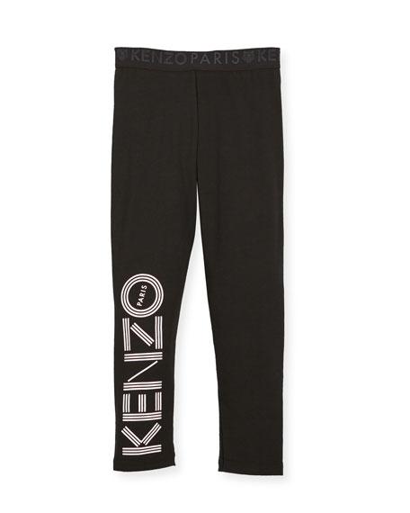 Kenzo Logo Leggings, Size 4-6