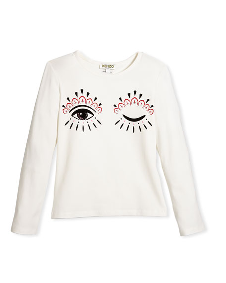 Long-Sleeve Eye Tee, Size 8-12