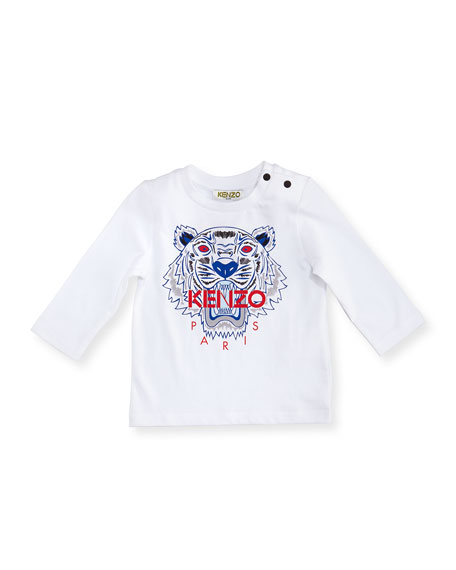 Kenzo Long-Sleeve Tiger Tee, Size 12-18 Months
