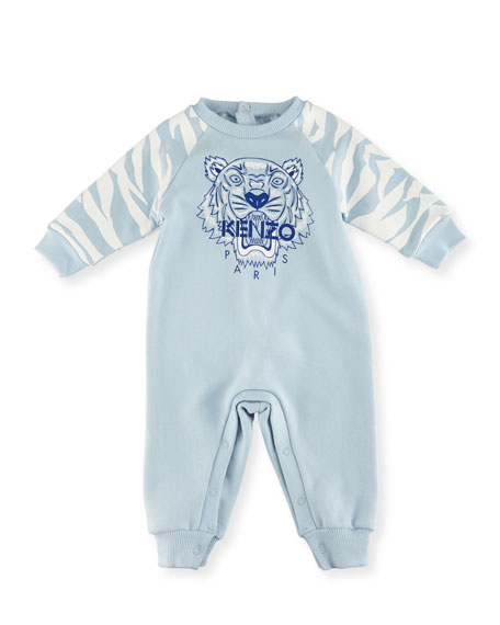 Kenzo Tiger One-Piece Lounger, Blue, Size 3-18 Months