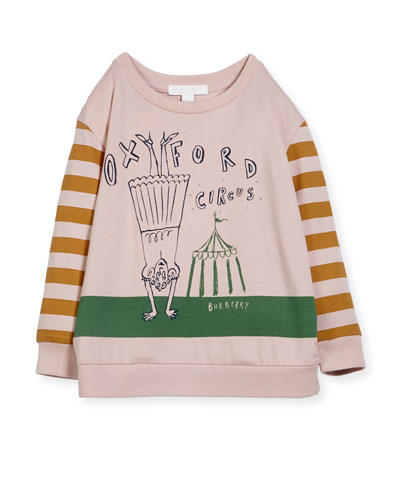Olivia Striped Graphic Sweatshirt, Size 4-14
