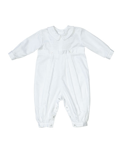Carson Christening Coverall w/ Matching Bonnet, Size 0-24 Months