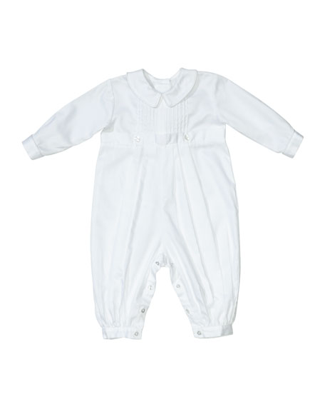 Kissy Kissy Carson Christening Coverall w/ Matching Bonnet,
