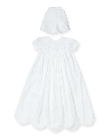 Kissy Kissy Caroline Short-Sleeve Christening Gown Set, Size