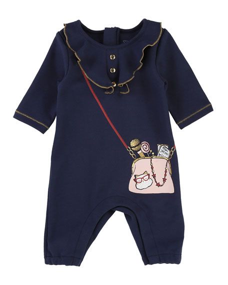 Little Marc Jacobs Ruffle Trompe l'Oeil Coverall, Size