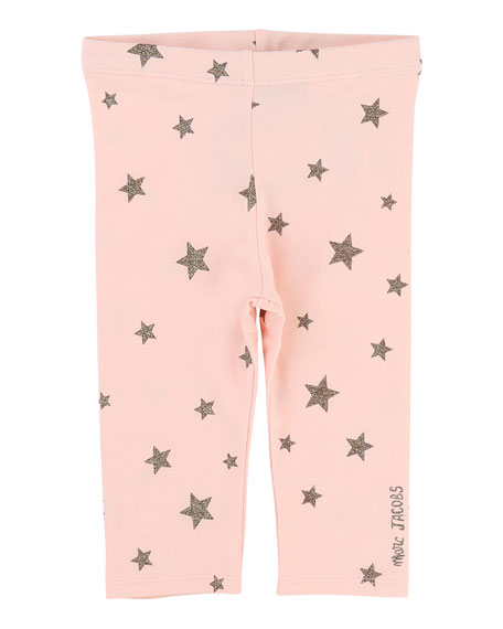 Allover Star-Print Stretch Leggings, Size 12-18 Months