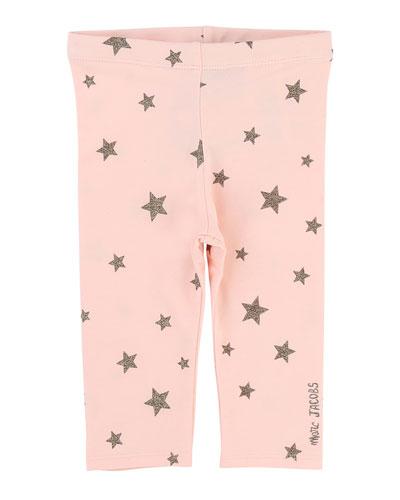 Allover Star-Print Stretch Leggings, Size 2-3