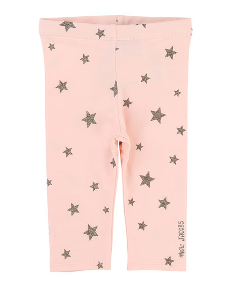 Little Marc Jacobs Allover Star-Print Stretch Leggings, Size